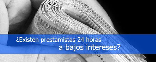 prestamistas 24 bajo interes